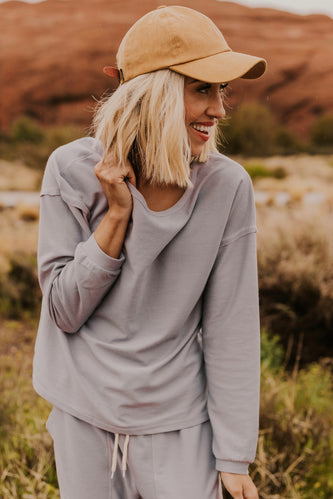 Blue Grey Activewear Sweatshirt | ROOLEE