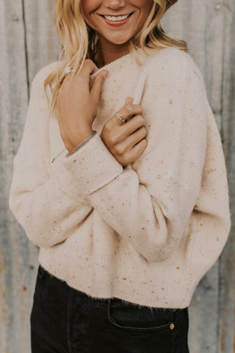 Speckled Crop Sweater | ROOLEE