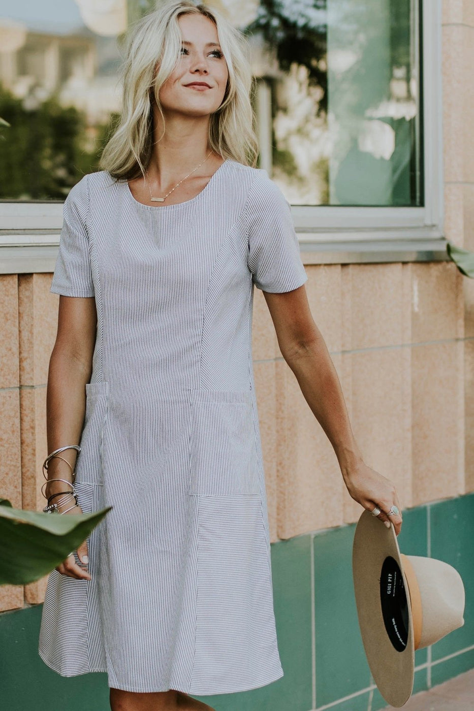 The Rosalyn MOM Dress in Navy | ROOLEE
