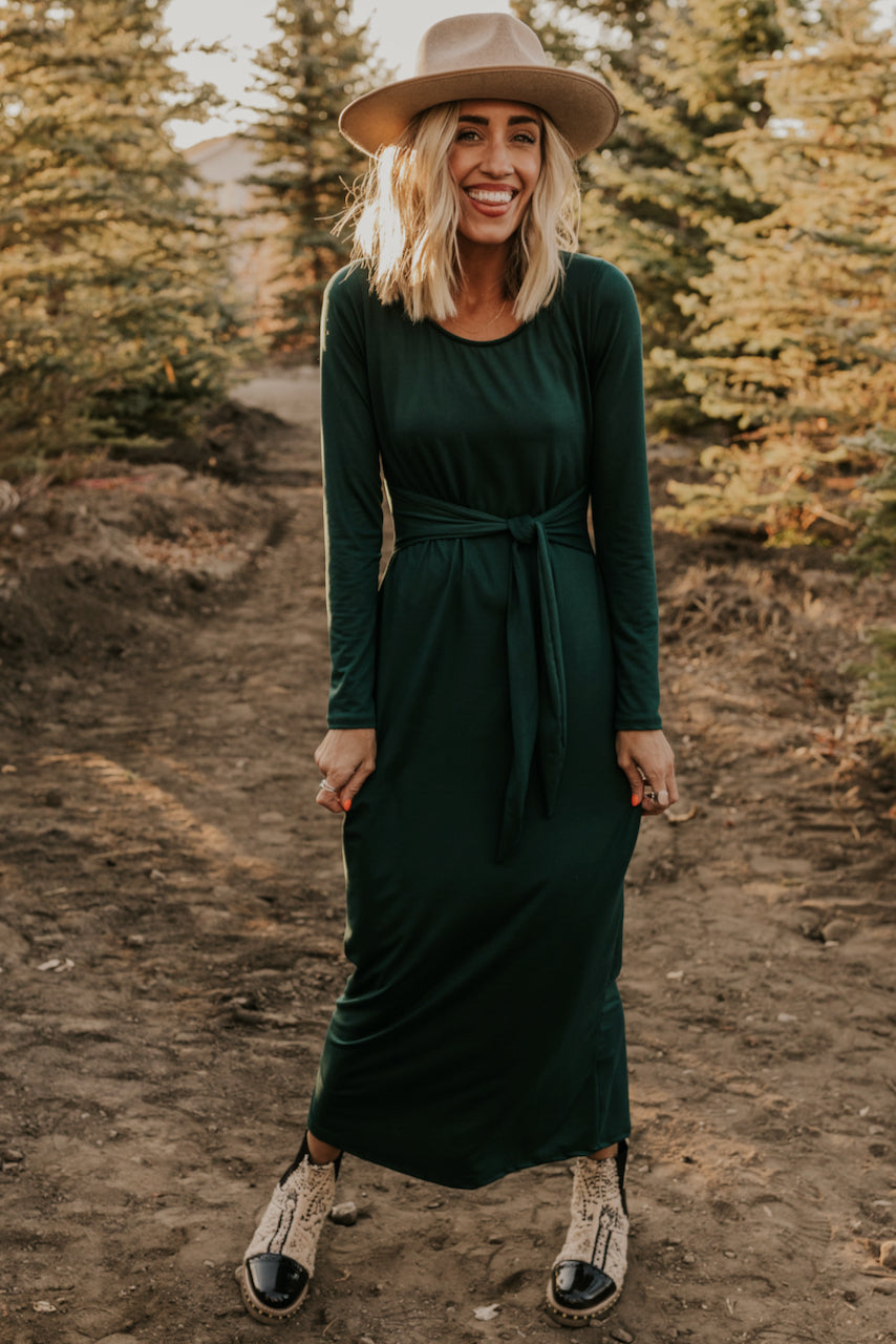 Dark Green Maxi for Holiday | ROOLEE
