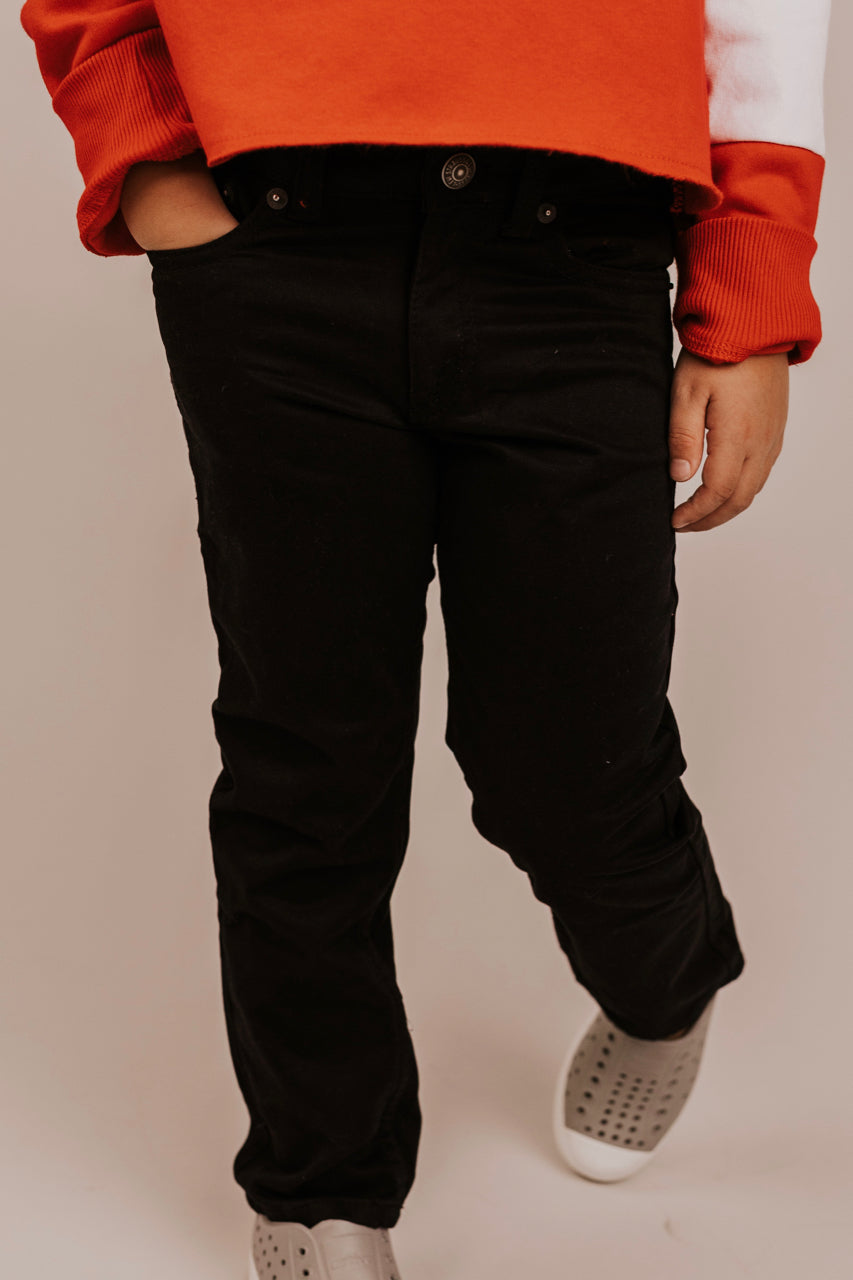 Black Pants for Little Boys | ROOLEE