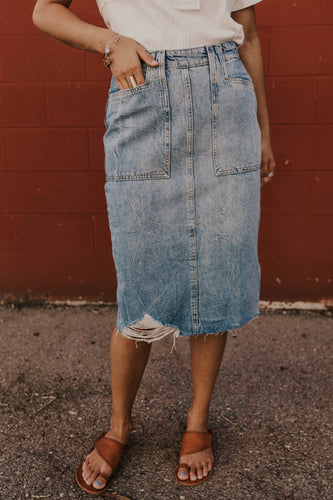 Summer Denim Skirt | ROOLEE