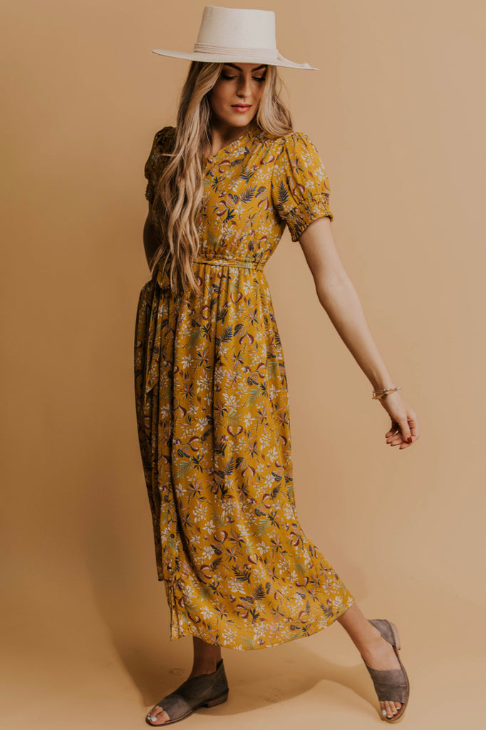 Floral Mustard Maxi | ROOLEE