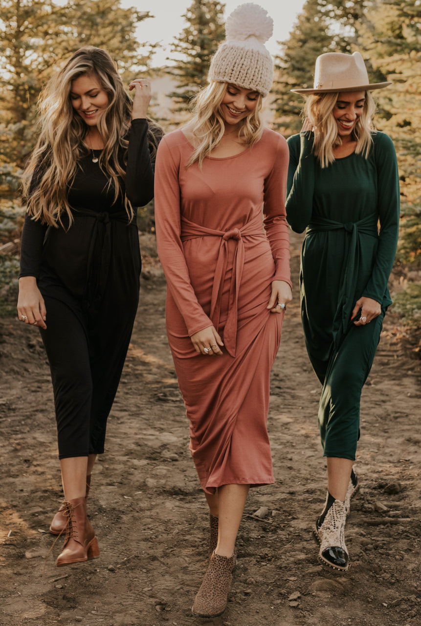 Long Sleeve Dresses for Winter | ROOLEE