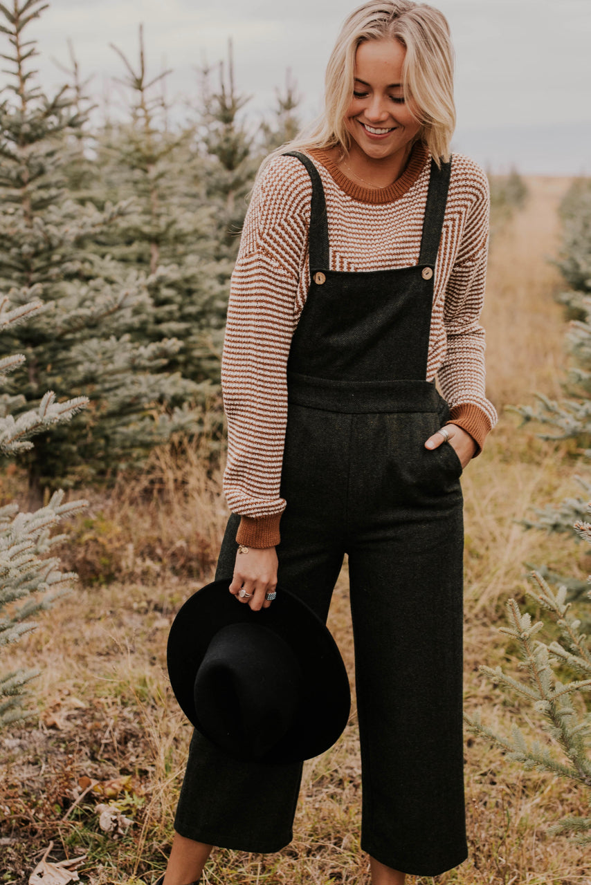 Wide-Leg Button Overalls | ROOLEE