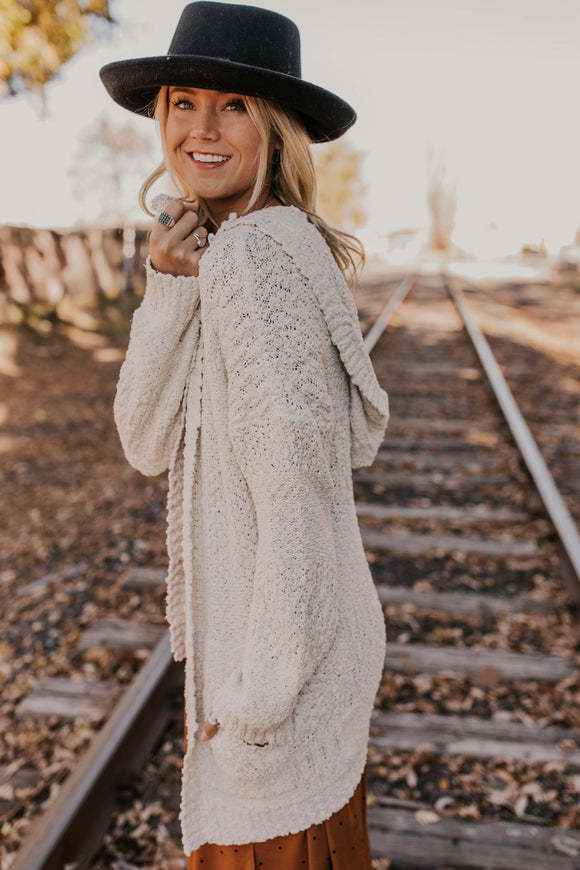 Misty Hooded Cardigan | ROOLEE
