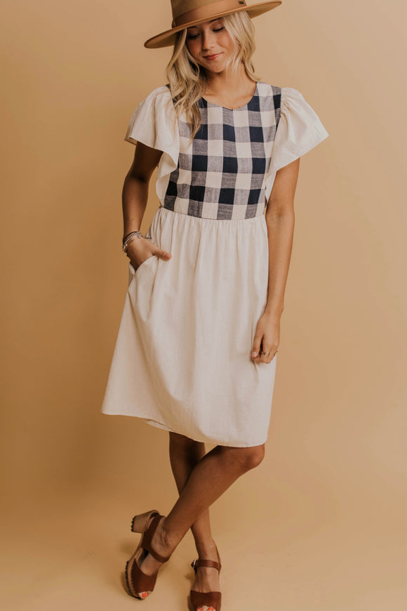 Plaid Smock Dress | ROOLEE