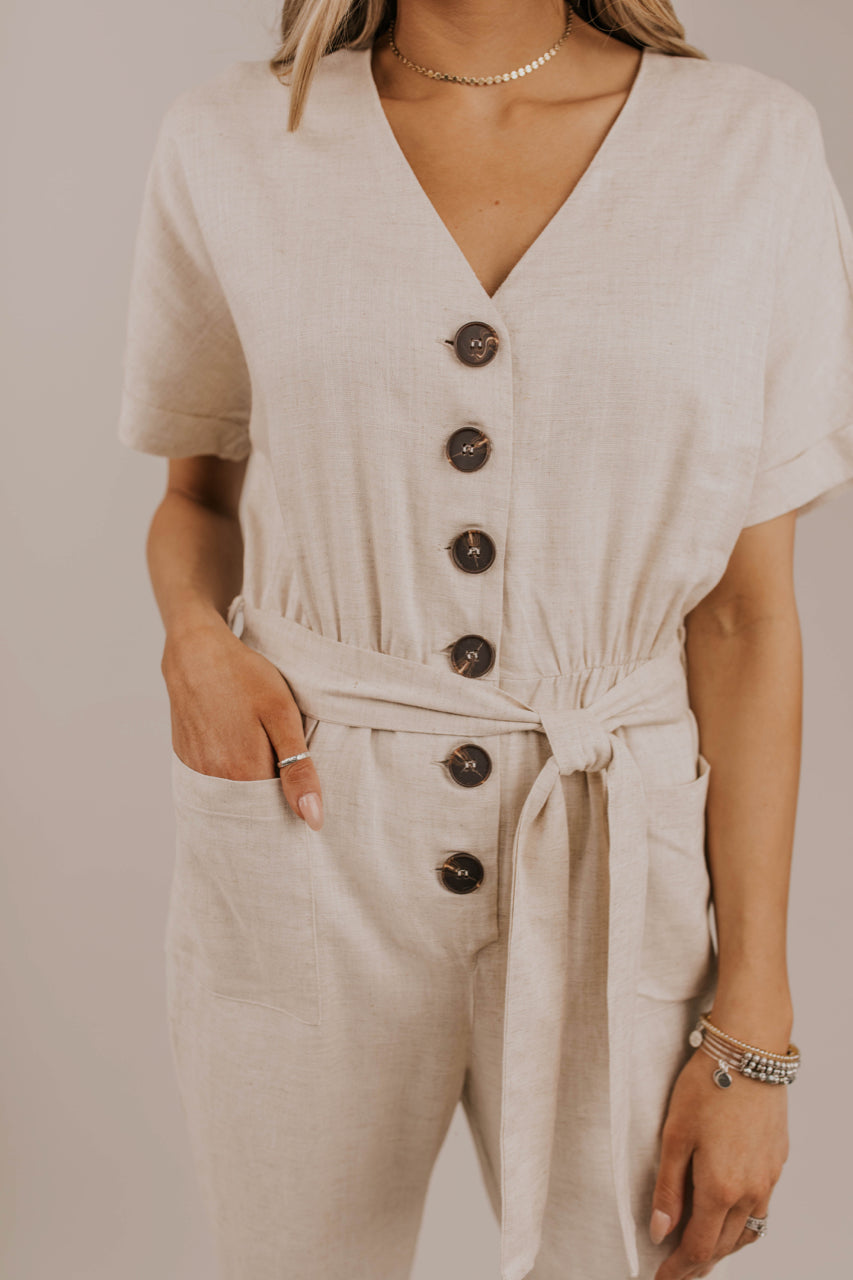 Button Jumpsuit Outfit | ROOLEE