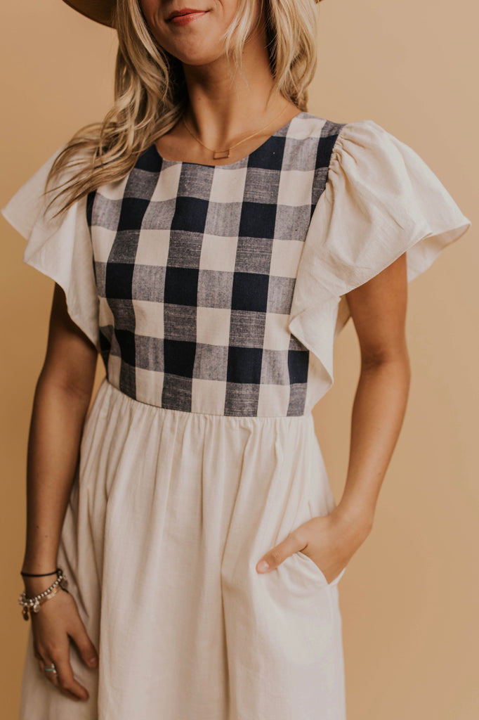 Plaid Front Dress | ROOLEE