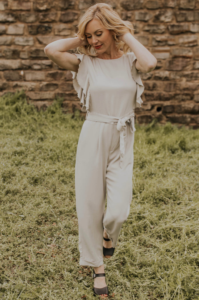 Light Grey Jumpsuit Outfit | ROOLEE