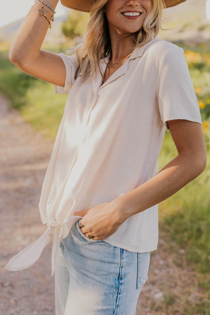 Button Up Tit Blouse | ROOLEE