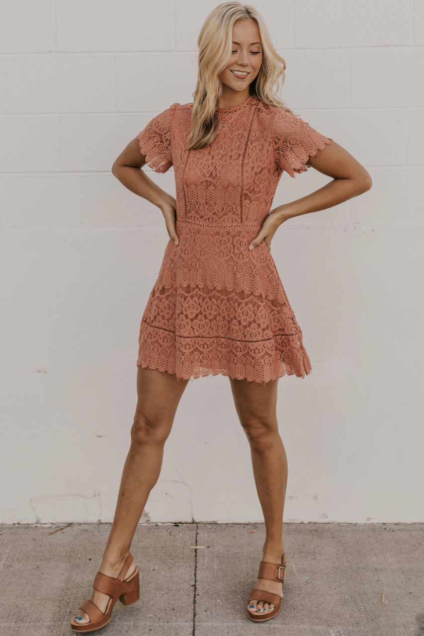 Marsala Lace Dress | ROOLEE