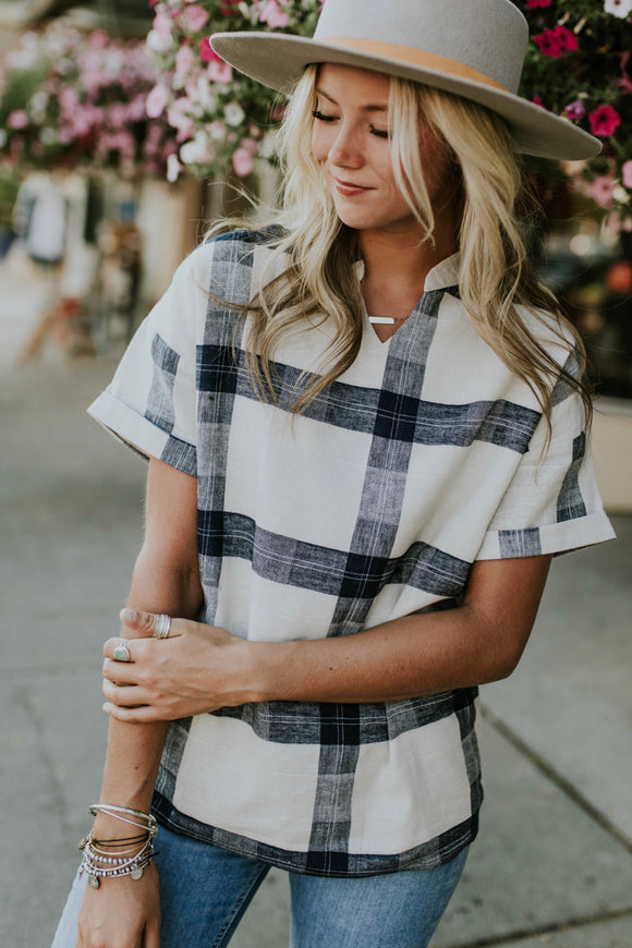 Sutherland Plaid Top | ROOLEE