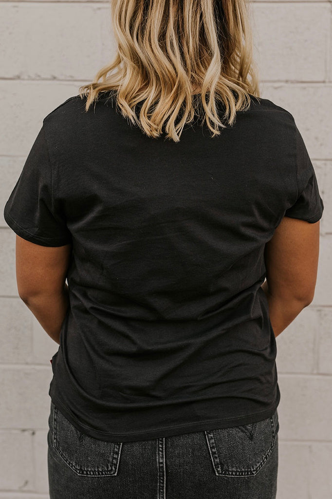 Black Graphic Tee | ROOLEE