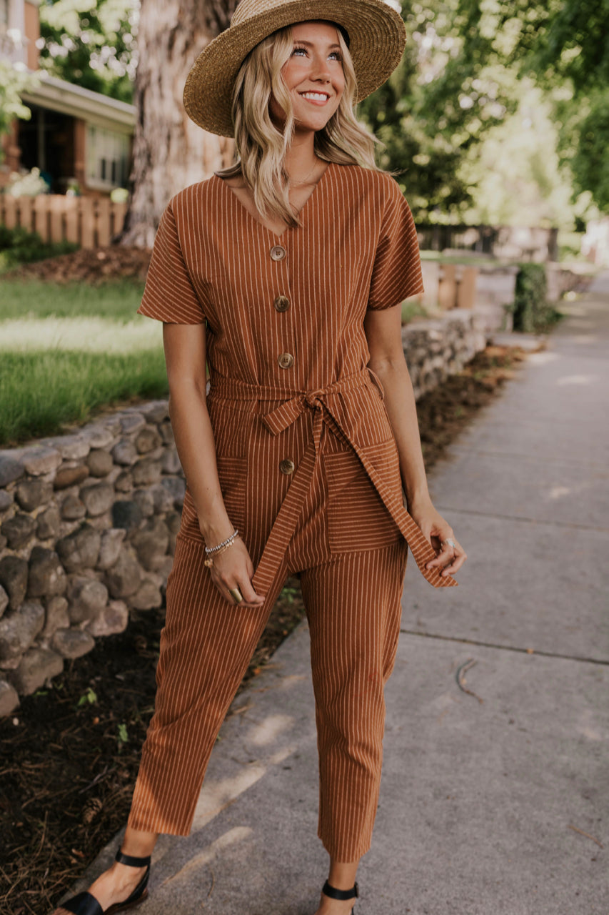 Cute Striped Jumpsuit | ROOLEE