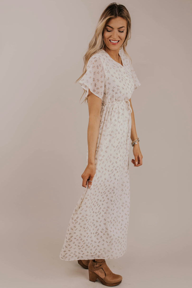 Button Front Maxi Dress Outfit Ideas | ROOLEE