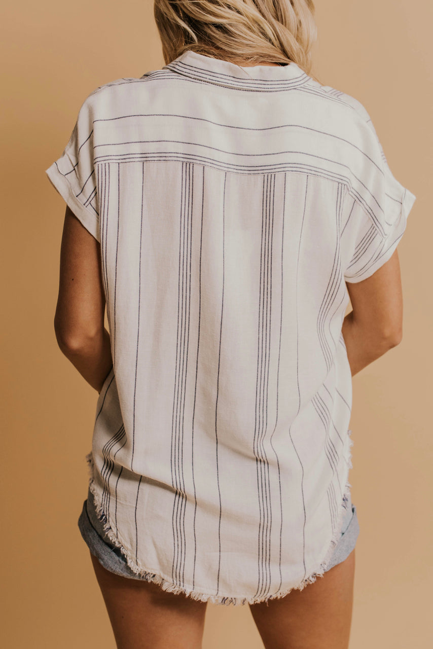 Stripe Button Up Top | ROOLEE