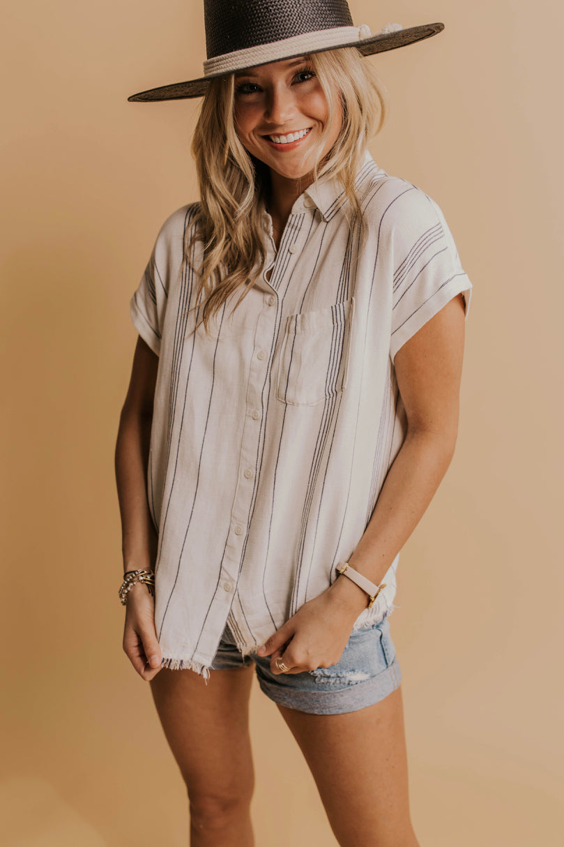 Raw Hem Nursing Friendly Top | ROOLEE