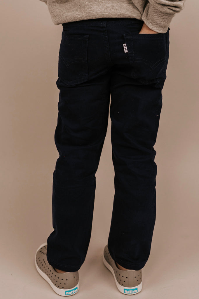 Navy Pants with Adjustable Straps | ROOLEE