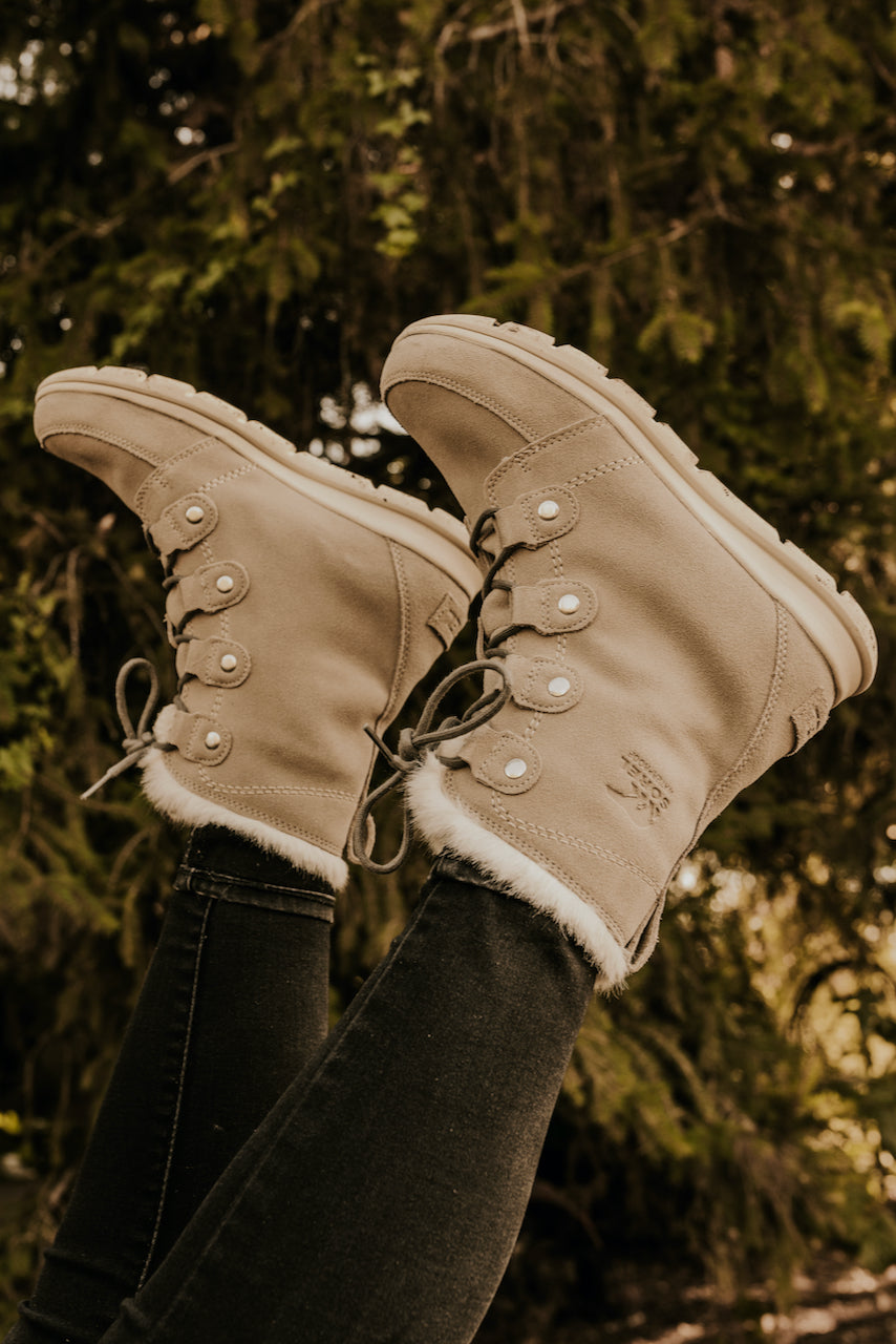 Lace Up Faux Fur Boots | ROOLEE
