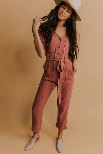 Button Up Jumpsuit Outfit | ROOLEE