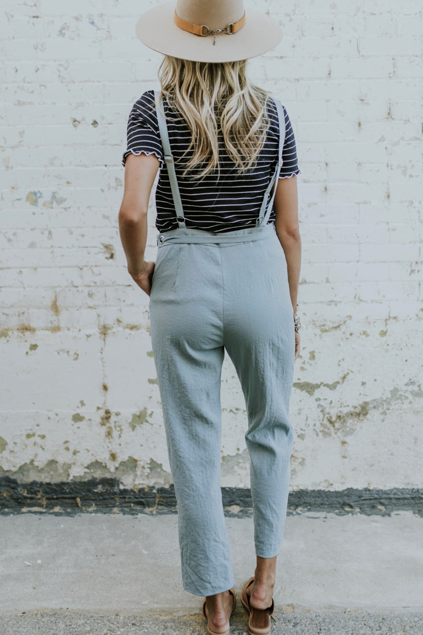 Grey Cotton Jumpsuit | ROOLEE