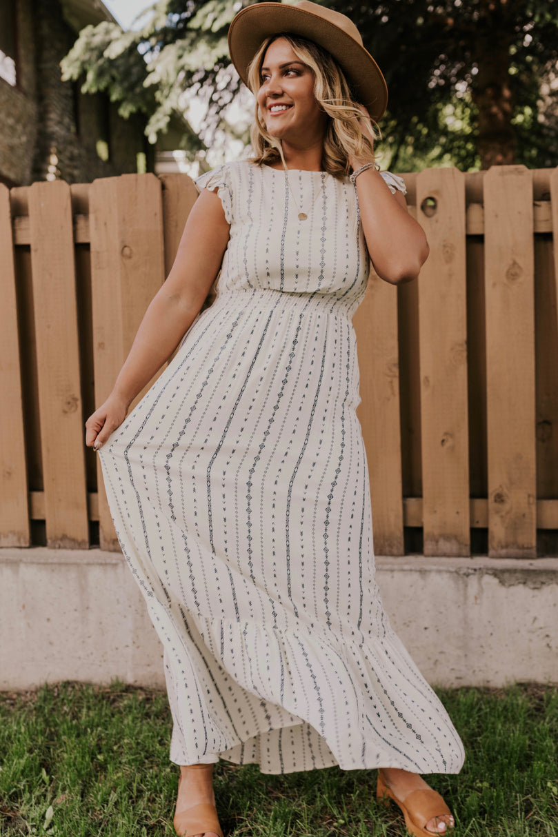 Women's Printed Maxi Dress | ROOLEE