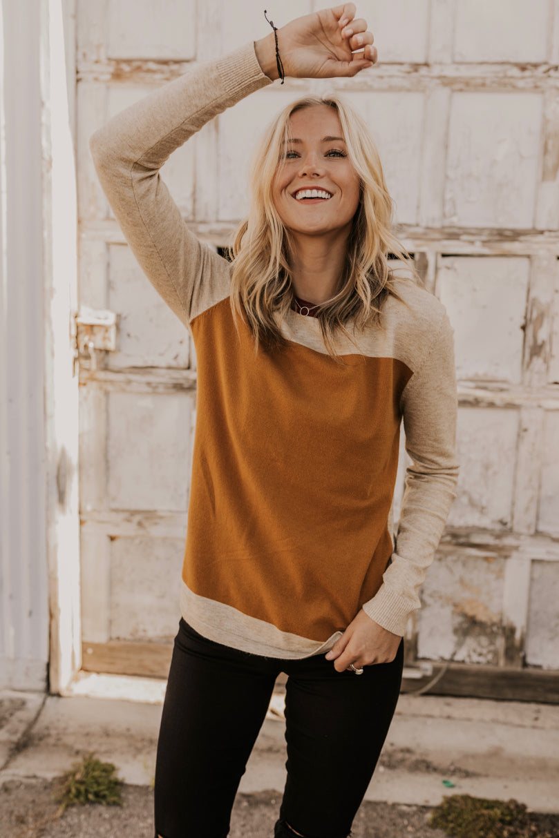 Fall Colorblock Sweater | ROOLEE