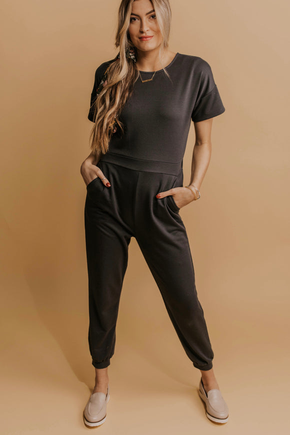 Cozy Charcoal Jumpsuits | ROOLEE