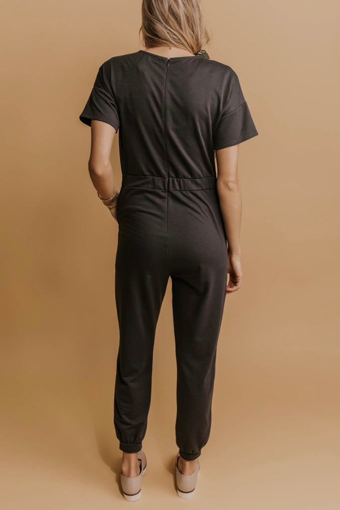 Cozy Charcoal Jumpsuits - Modest Women's Clothing | ROOLEE