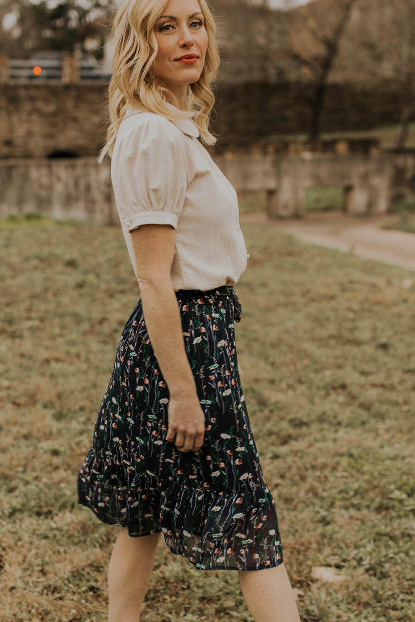 Dainty Floral Skirt | ROOLEE