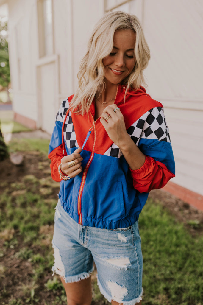Color-block Hooded Lightweight Summer Windbreaker | ROOLEE