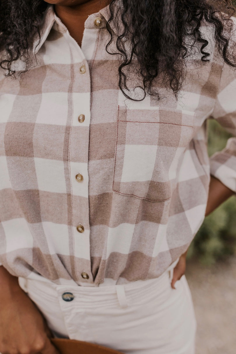 Button Up Flannel Women's Top | ROOLEE