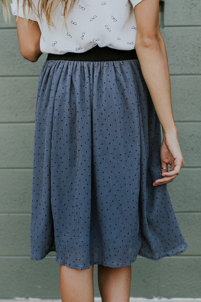 Flowing Polka Dot Skirt | ROOLEE