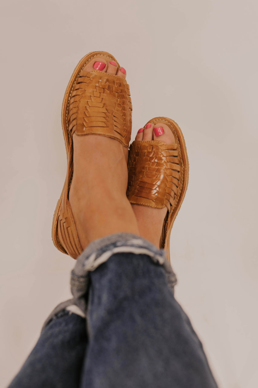 Leather Woven Sandals | ROOLEE