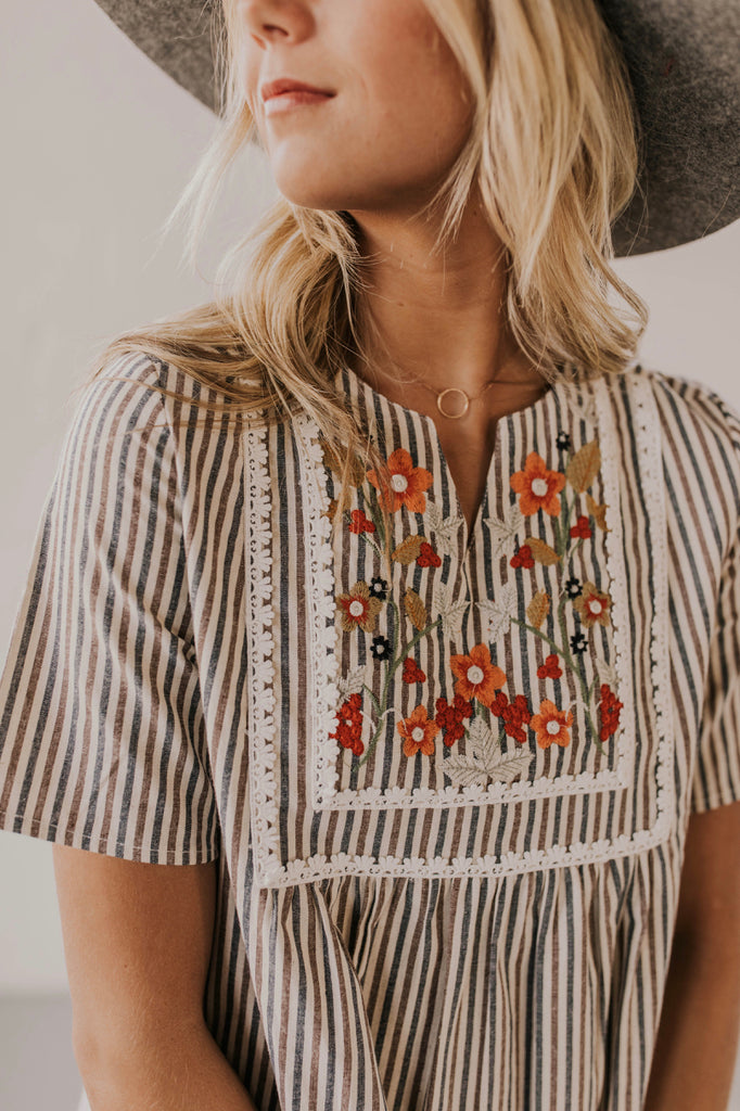 Embroidered Dress Outfit | ROOLEE