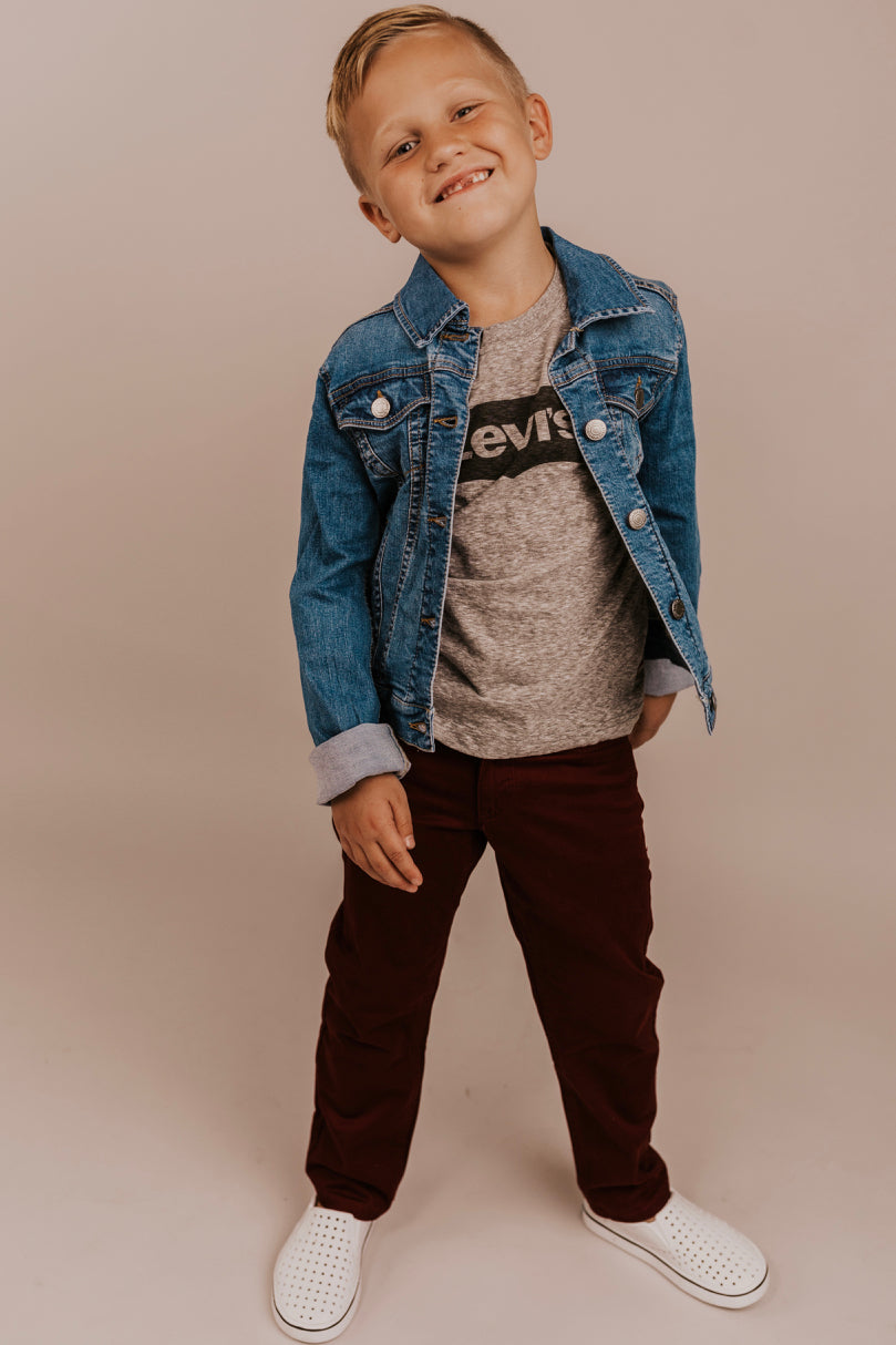 Maroon Pants Outfit For Boys | ROOLEE