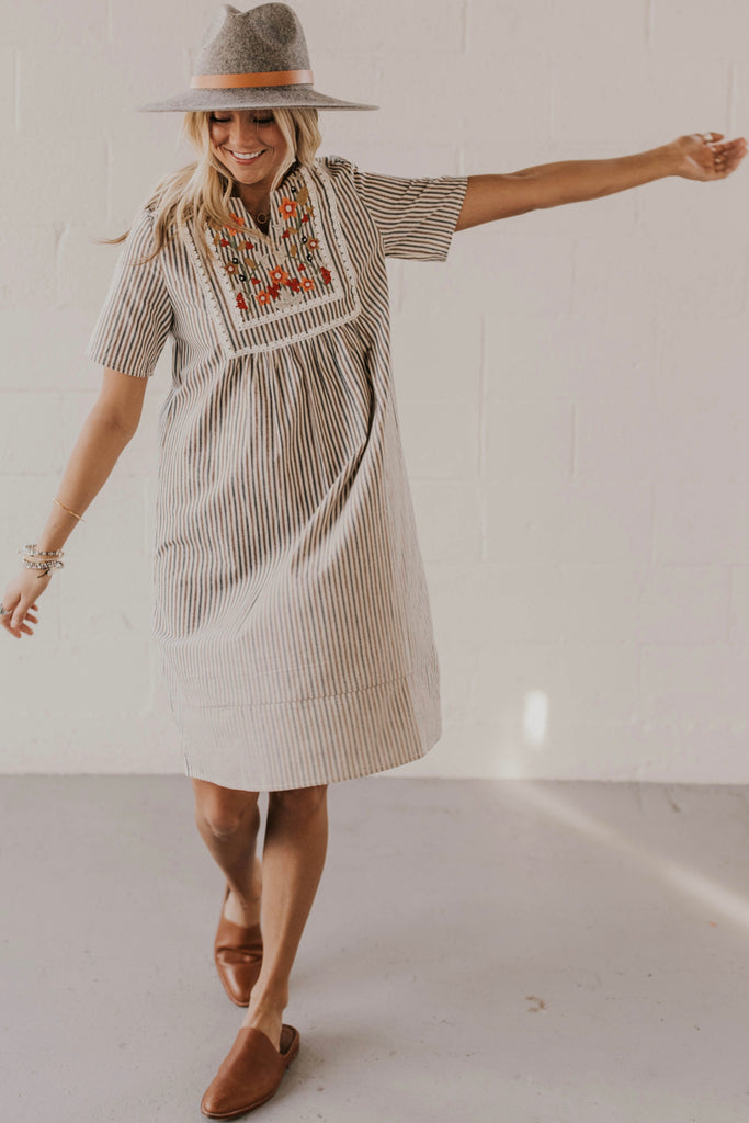Herman Stripe Dress | ROOLEE