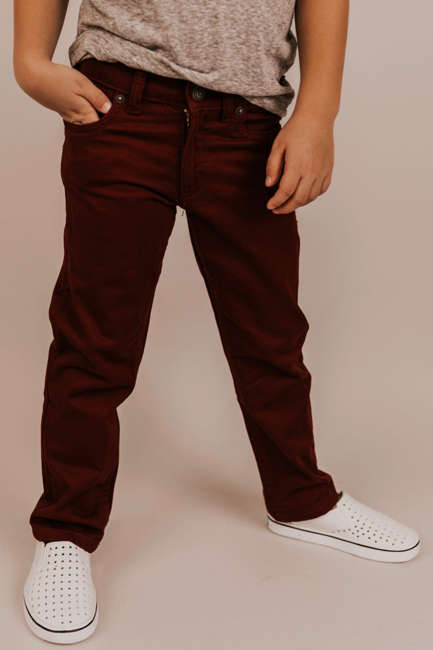 Maroon Pants for Boys | ROOLEE