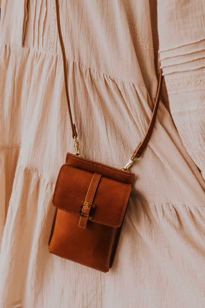 Brown Leather Crossbody | ROOLEE