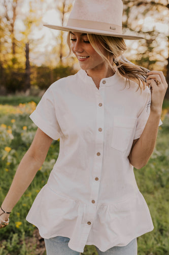 Spring/Summer Block Neck Blouse | ROOLEE