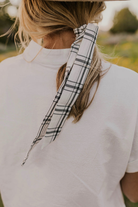 Plaid Hair Tie Scarf | ROOLEE