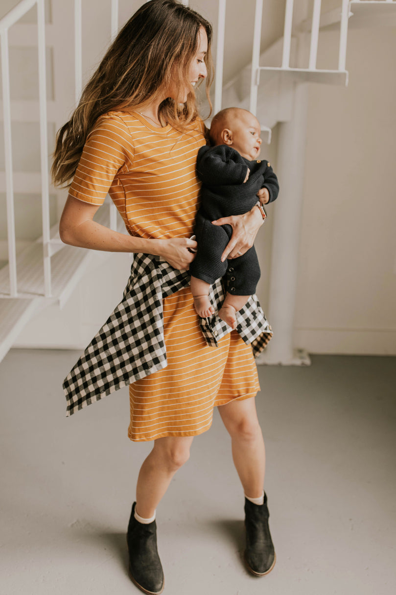 Lyndee Stripe MOM Dress