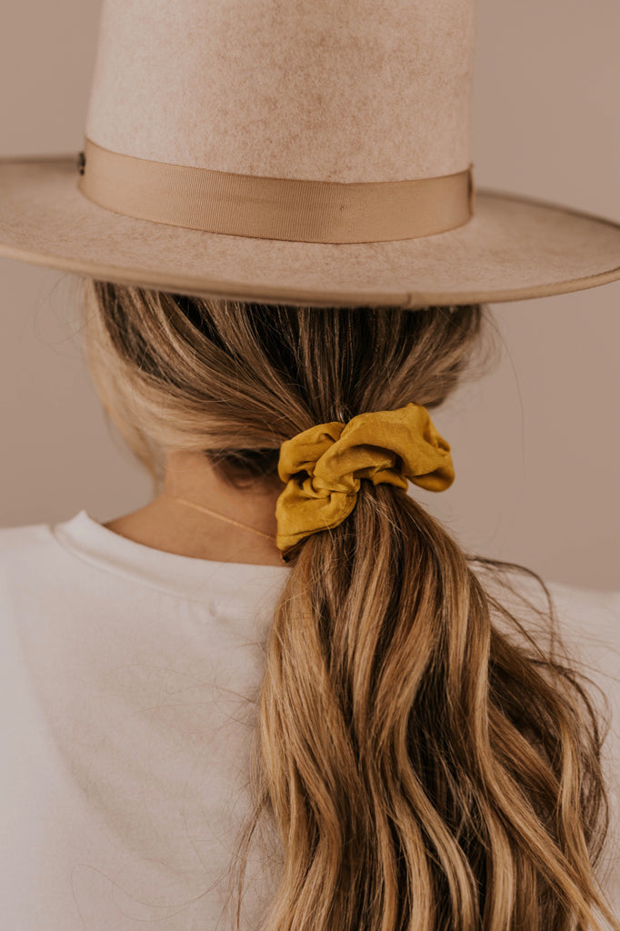 Mustard Hair Scrunchie for Women | ROOLEE