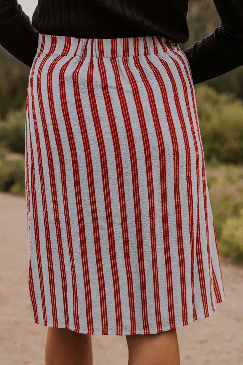 Vertical Stripe Skirt | ROOLEE