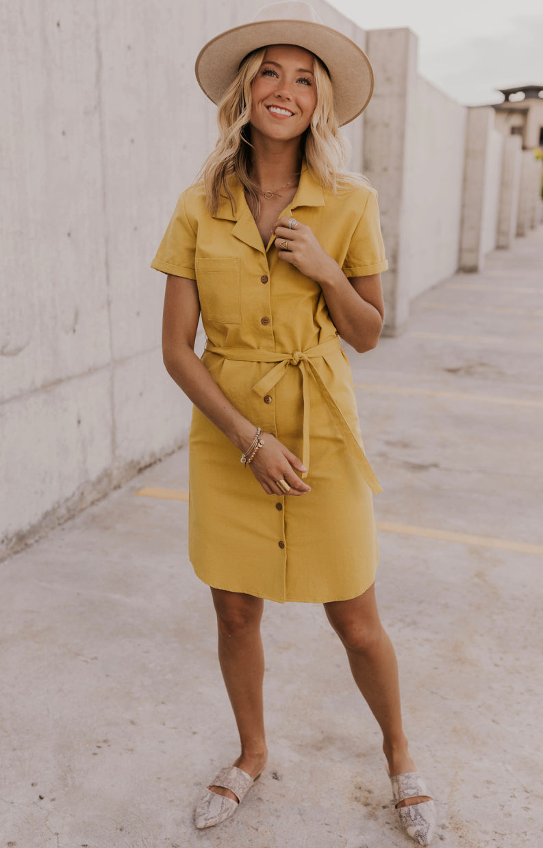 Simple Buttoned Summer Dress | ROOLEE