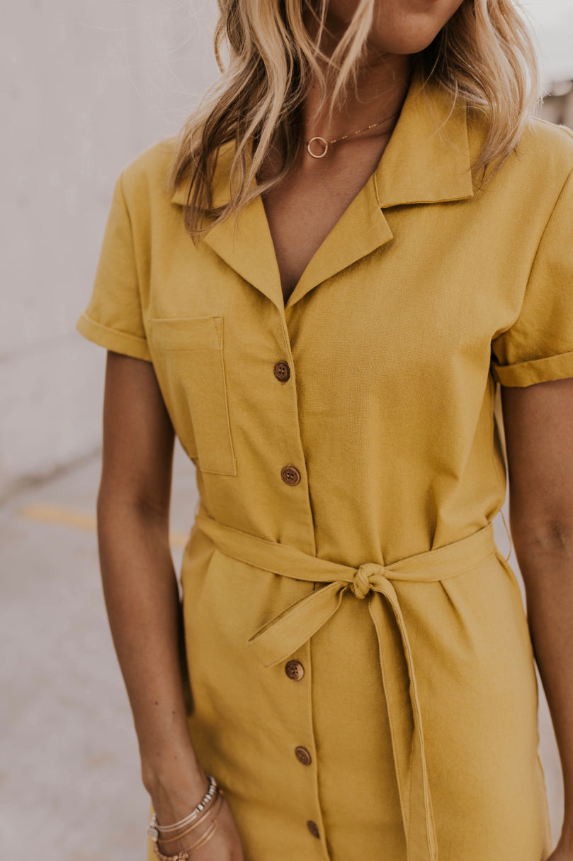 Collared Solid Summer Dress | ROOLEE