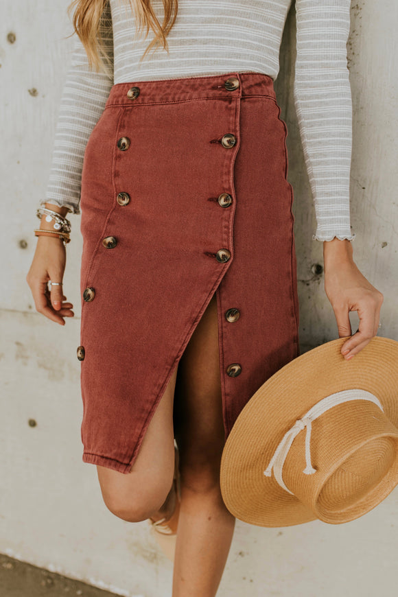 Polly Button Skirt | ROOLEE