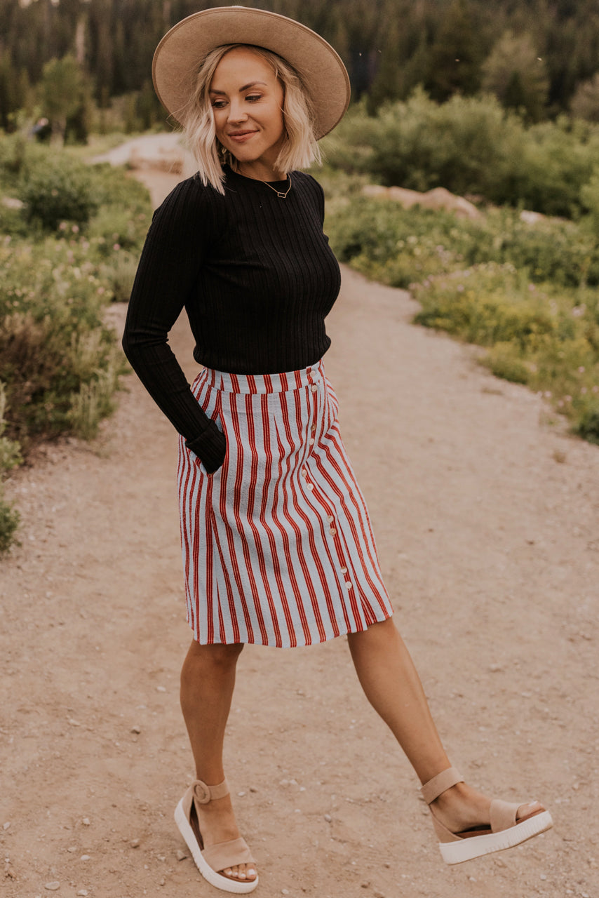 Casual Stripe Skirt | ROOLEE
