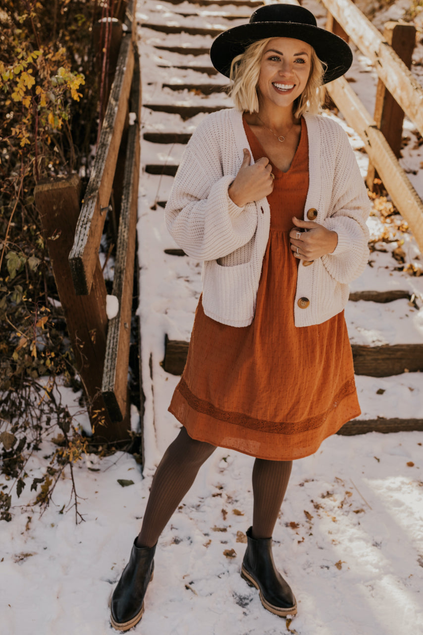 Rust Dress for Fall | ROOLEE